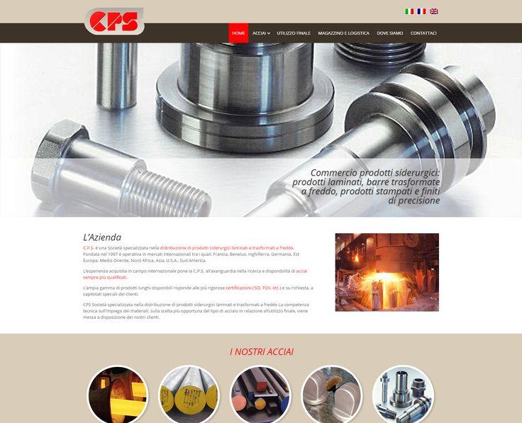 Restyling del sito web realizzato per Steel CPS www.steelcps.com