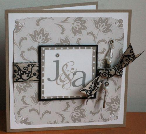 Initials wedding card