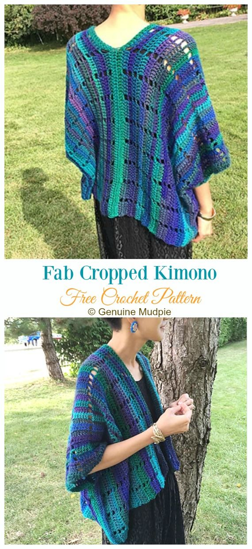 Women Kimono Cardigan Free Crochet Patterns Clothing