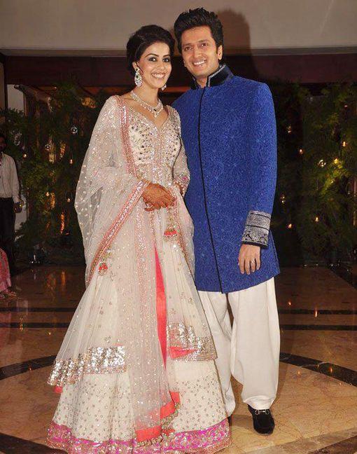 genelia d'souza and ritesh deshmukh wedding reception photos - Google Search
