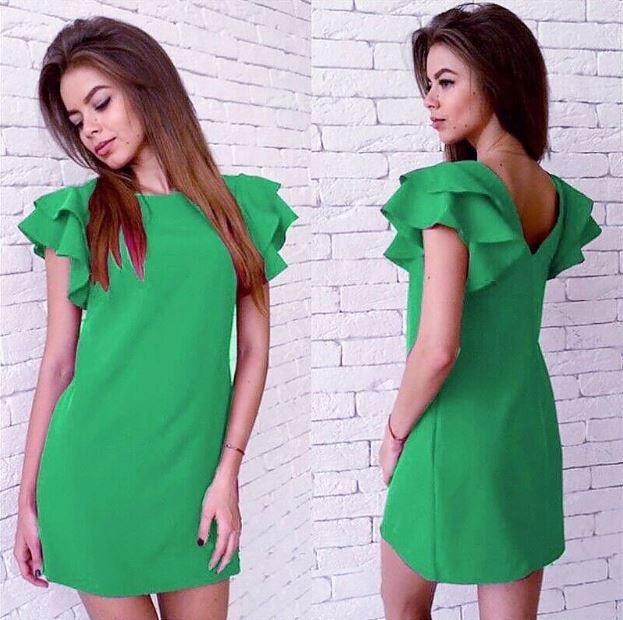 Letní podzimní krátké šaty se zajímavými rukávy zelené – Velikost L Na tento produkt se vztahuje nejen zajímavá sleva, ale také poštovné zdarma! Využij této výhodné nabídky a ušetři na poštovném, stejně jako to udělalo …