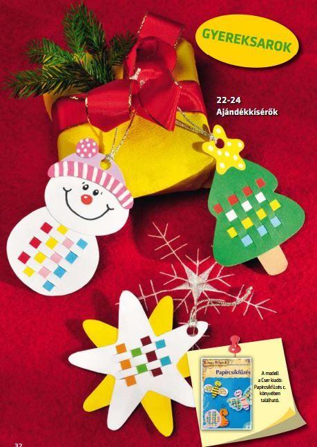 Gyereksarok - Ajándékkísérők karácsonyi meglepetéshez.