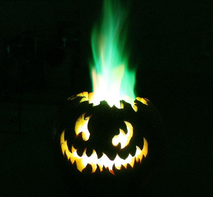 Green Fire Pumpkin