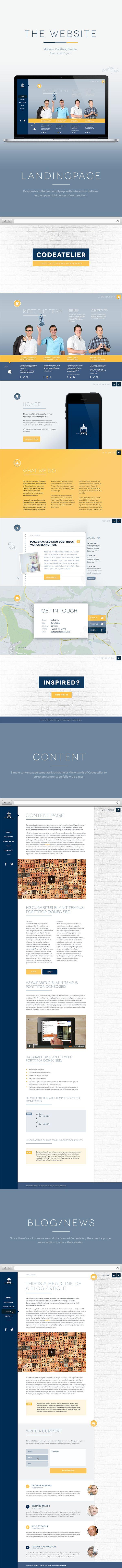 Codeatelier by Ines Gamler, via Behance#ResponsiveDesign #Website #Web #Design #UI #UX #GUI #Brand #Logo #Amazing #Site #GraphicDesign