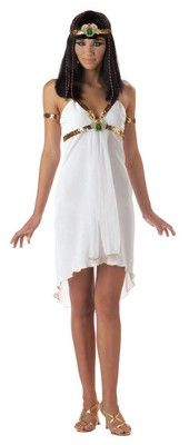 This teen Egyptian Jewel Costume includes the Cleopatra costume dress with gold fabric drape details and printed collar printed belt drape and the sequin ...  sc 1 st  Pinterest & 31 best Teen Costume images on Pinterest | Costume ideas Teen ...
