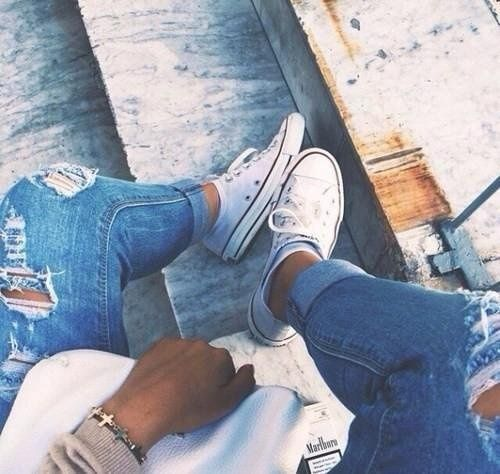 ## ♥ #fashion #converse #sneakers #pants