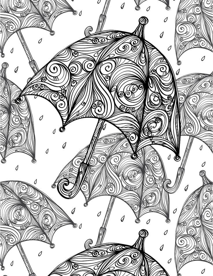 umbrellas adult colouring page colouring in sheets art craft art supplies i