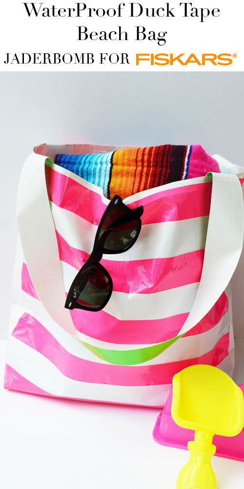 Learn how to make this easy Waterproof Duck Tape Beach Bag