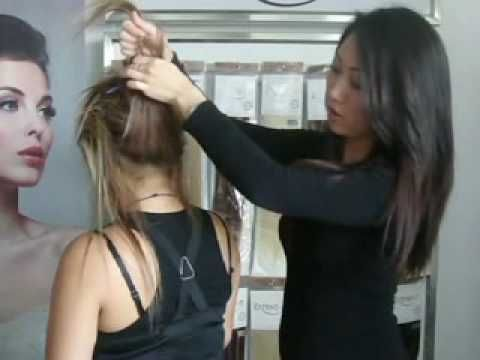 How to use clip-in extensions for a pony tail - Extend-it