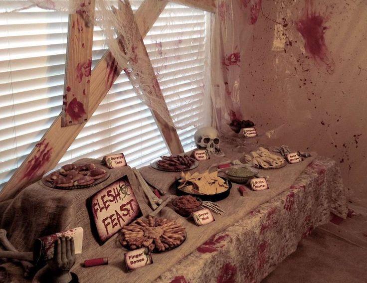 "Zombie Halloween Birthday / Birthday ""Zombie Apocalypse End of The World"" | Catch My Party"