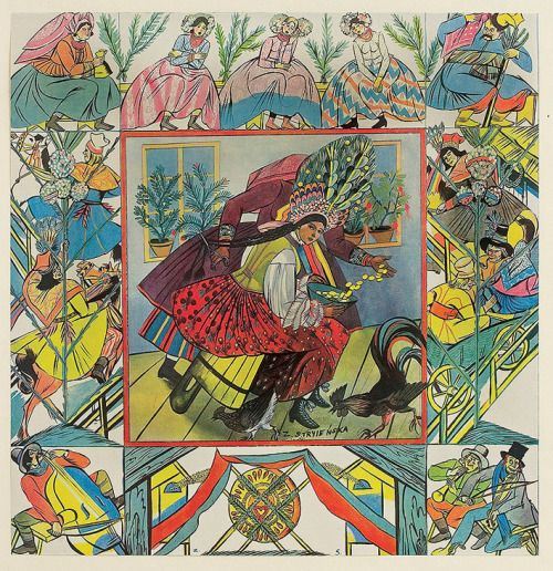 Magic of the Slavs' cycle by Zofia Stryjeńska (Polish, 1891-1976).