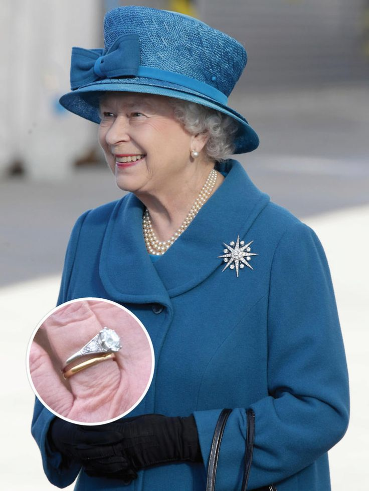 Queen Elizabeth II's engagement ring and nine other iconic engagement rings. Just look at those rocks!!!