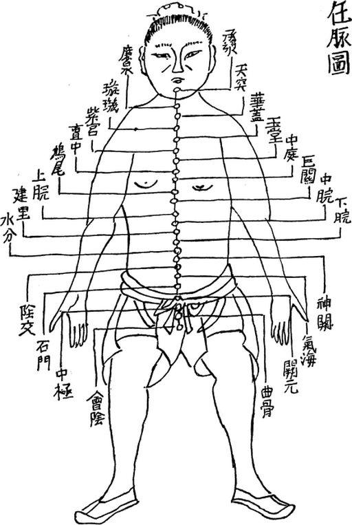 Illustration du vaisseau conception dans  L'Acuponcture chinoise de George Soulié de Morant