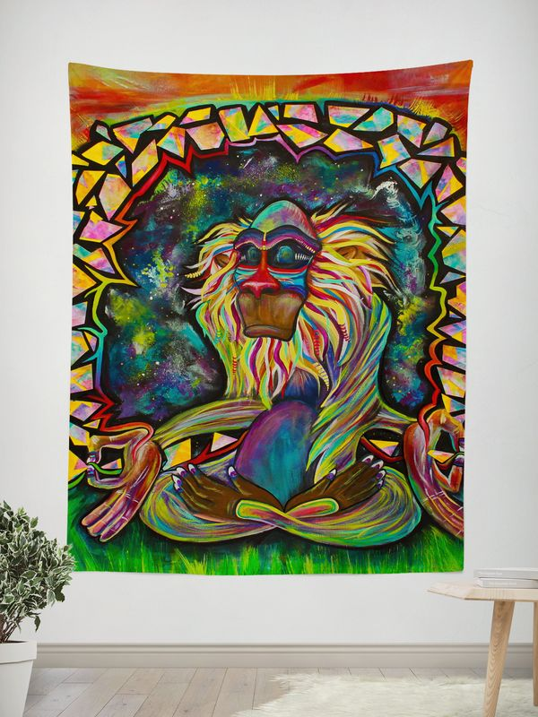 Electro Wall Tapestries Features: - HD Full-Quality Artwork by @lauramcgowanart - 100% lightweight polyester with hand-sewn finished edges - Extremely vivid colors and crisp lines - Available in 2 siz