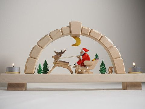Candle arch - Santa with Reindeer – Adornare