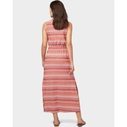 Tom Tailor Damen Kleid mit Zickzack-Muster, rot, gemustert, Gr.46 Tom TailorTom Tailor