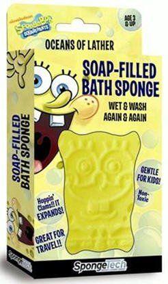 SpongeBob SquarePants Soap Filled Bath Sponge @ niftywarehouse.com #NiftyWarehouse #Spongebob #SpongebobSquarepants #Cartoon #TV #Show