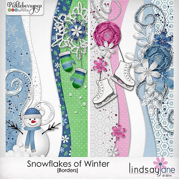Snowflakes of Winter Borders