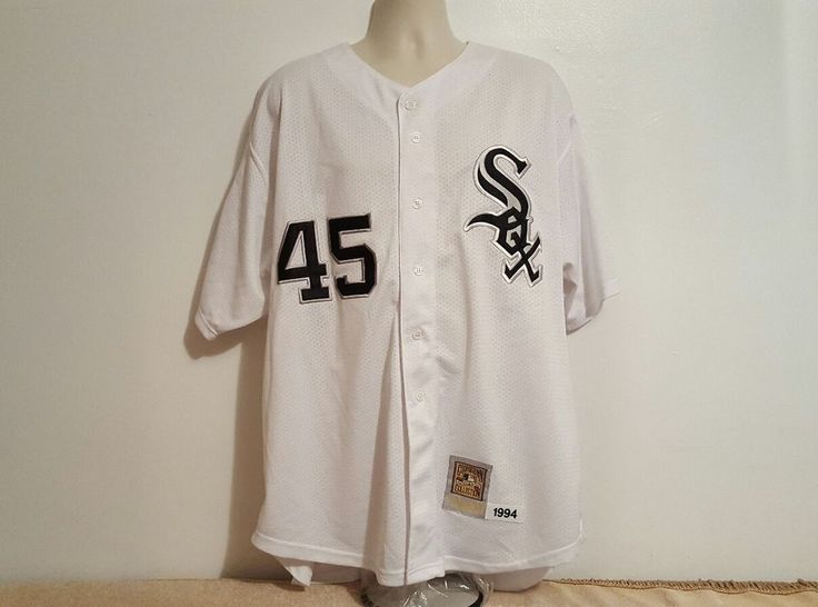 Michael Jordan Chicago White Sox 1994 Mitchell & Ness Throwback Baseball Jersey #MitchellNess #ChicagoWhiteSox
