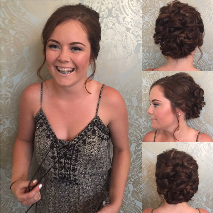 Here's one happy girl ready to graduate ! Beautiful prom updo by stylist Brittany & makeup by artist Caitlin 💕   #BBBeauty #BBHair #BBMakeup #promhair #promday #graduate #loveyourhair #milestone