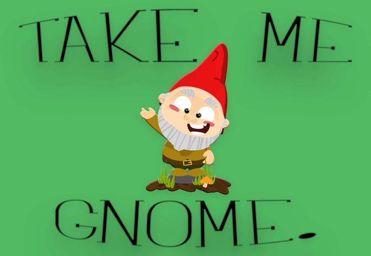 """""""Take Me Gnome"""" Welcome Mat"""