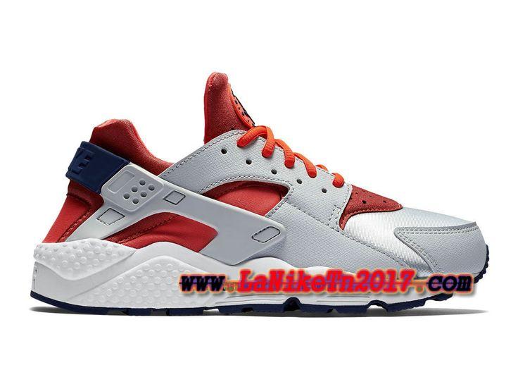 Homme Nike Air Huarache Run Rouge Gris Chaussures Pas Cher 634835-013H