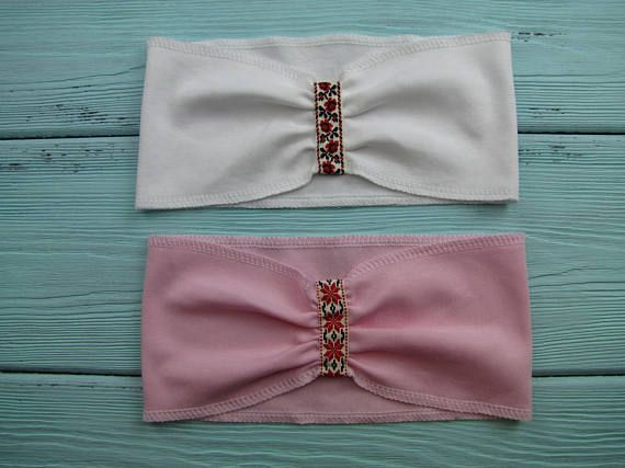 Ready to ship. Set of 2 baby headbands. Baby shower gift.