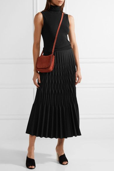 Barbara Casasola - Soleil Pleated Stretch-knit Midi Skirt - Black - IT44