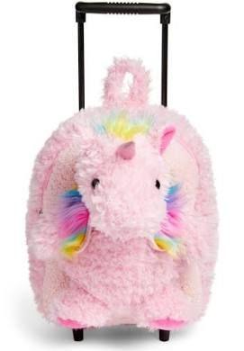 Infant Girl's Popatu Unicorn Trolley Rolling Backpack - Pink