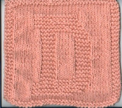 Knitted Quot D Quot Cloth Mary S Stuff Knitting Squares