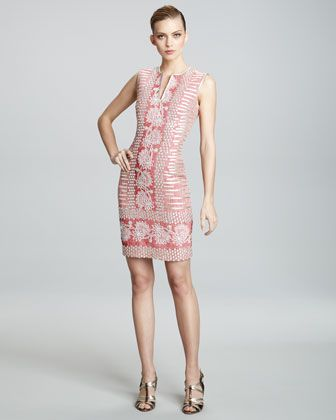 Jacquard-Print Sleeveless Dress by Naeem Khan at Bergdorf Goodman.