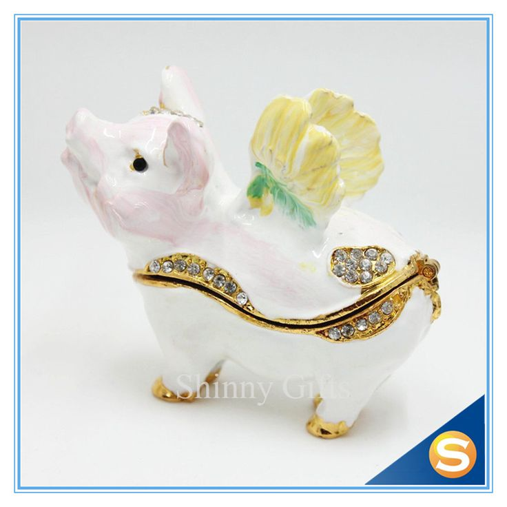 Cute Flying Pig Trinket Box Jewelry Box Home Decorative Box Free Shipping //Price: $23.95 & FREE Shipping //     #hashtag2