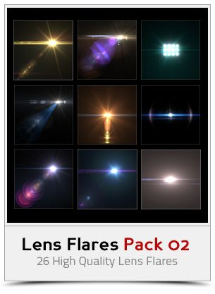 Lens Flares Pack 02 by khaledzz9