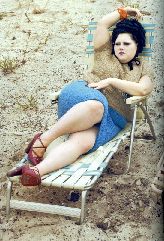 Beth Ditto, you know why? because she doesn't give a crap. She is big and she is beautiful.