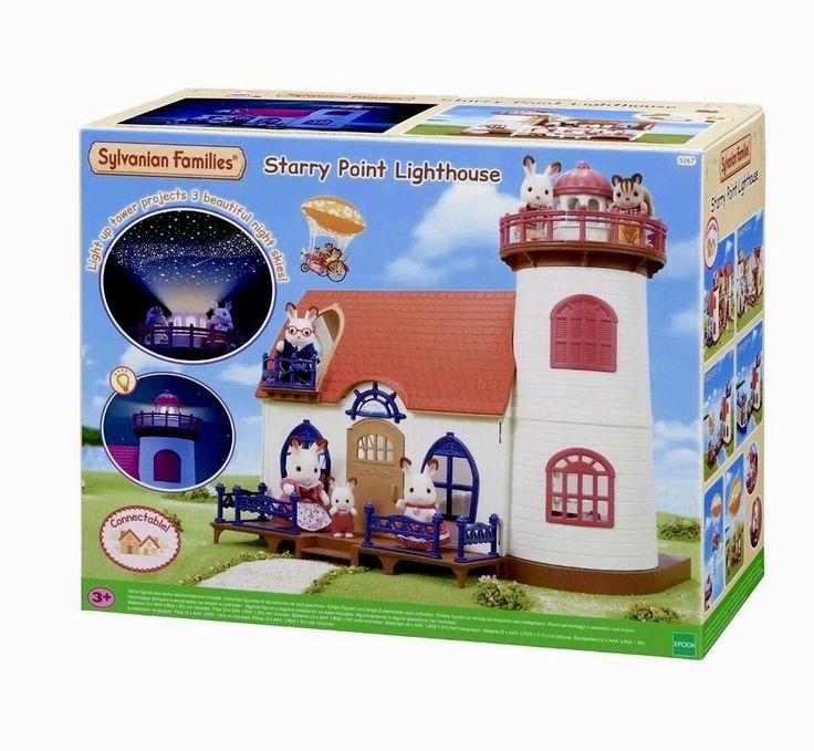 Sylvanian Families Starry Point Lighthouse projection stars night light toys new