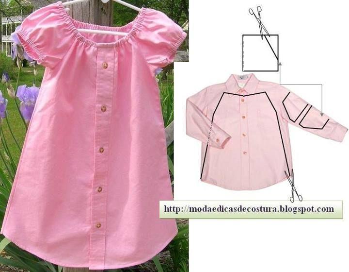 Altes Hemd Kinderkleid