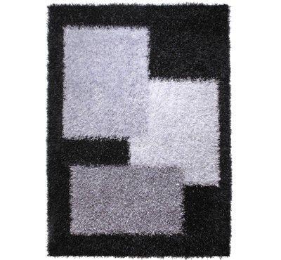 Esprit - Cool Glamour Black / Silver Rugs - buy online at Modern Rugs UK
