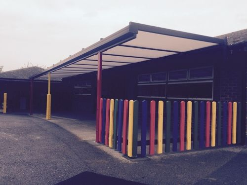 We Installed A 15m X 25m Coniston Wall Mounted Canopy At Merrow C Of E