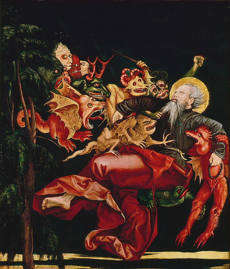 Heiliger Antonius von Dämonen gepeinigt, ca. 1520, Oberrhein
