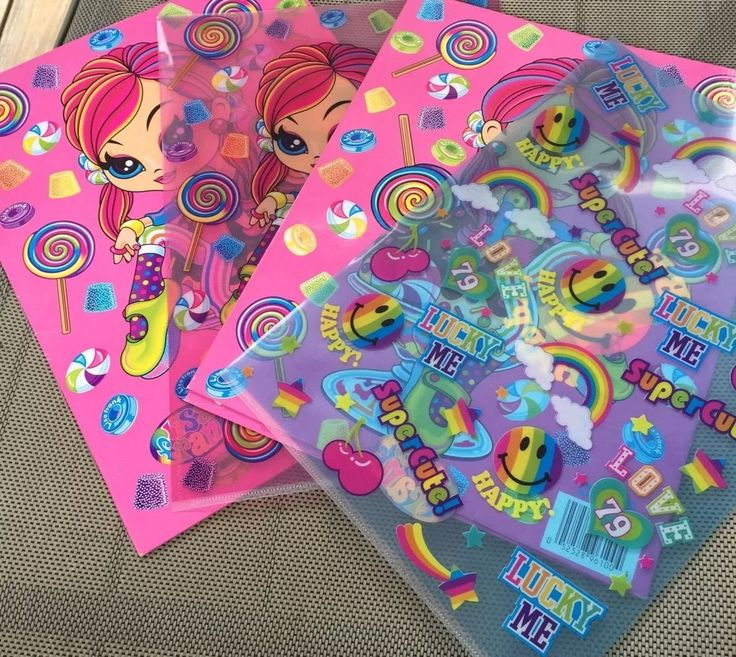 Lisa Frank Cherri Candy Girl Trapper Keeper Binder Lot Pencil Pouch Folders | eBay