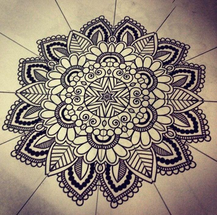 how to draw mandala patterns