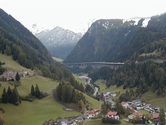 Brenner's pass...takes you across the border from Italy to Austria.