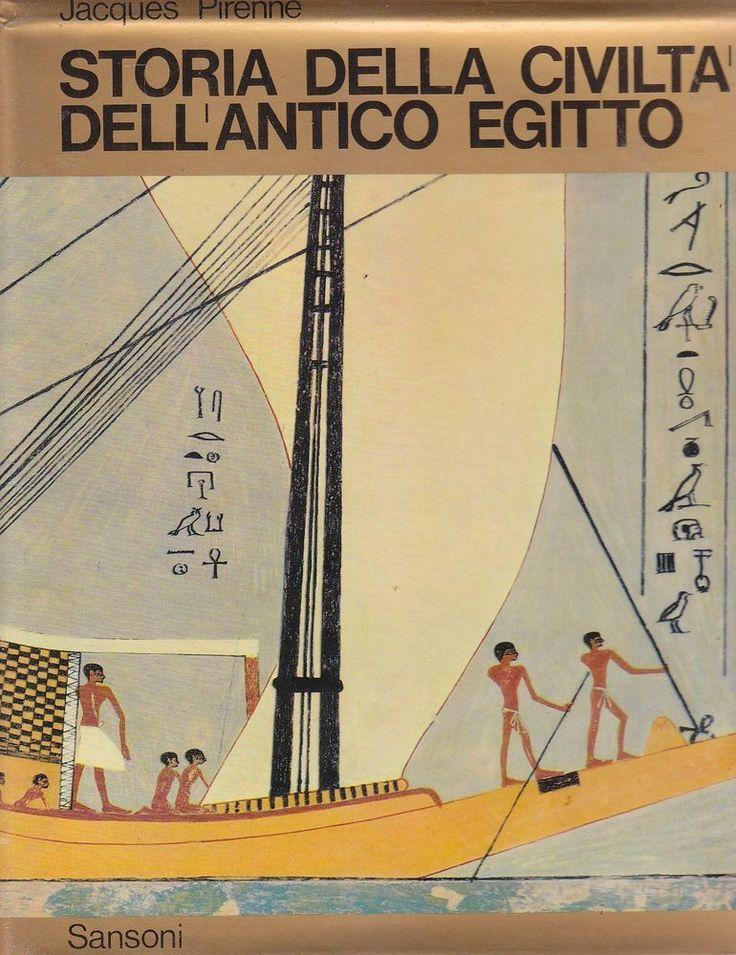 STORIA DELLA CIVILTÀ DELL ANTICO EGITTO di Jacques Pirenne 3 volumi in cofanetto