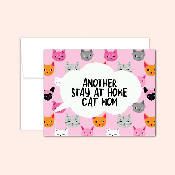 Cat Mom Note Card Set (10 cards), Notecard Set, Hostess Gift, Card for Friend, Cute Note Card, Cat Greeting Card, Blank Inside, Cat Cards