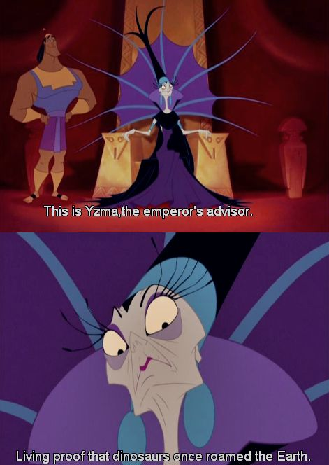 I still love this whole intro for Yzma that Kuzco gives hahaha