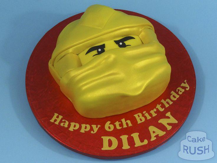 Gold Ninjago cake