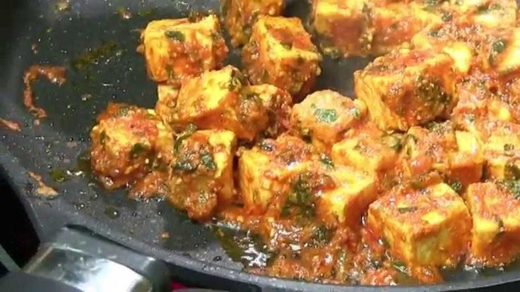 Tawa Paneer Masala Recipe Video   Indian Cheese Curry Recipe
