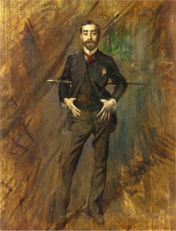 """ Portrait of John Singer Sargent, Giovanni Boldini 1890 """