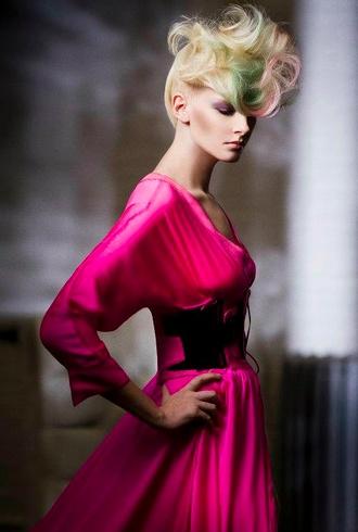 DELIGHTFUL DECADENCE  Hair: Dimitrios Tsioumas   Photo: Babak Ca  Make-up: David Maderich  Clothing Stylist: David Widjaja