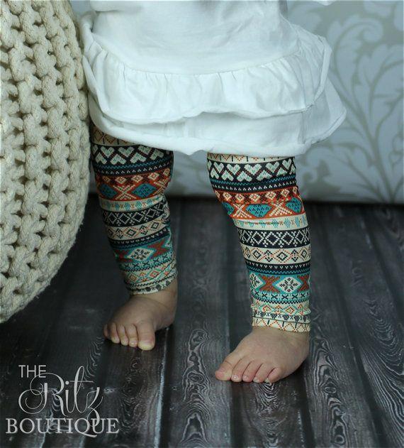 SALEPrint leggings Aztec legging by TheRitzBoutique on Etsy, $6.99